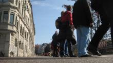 Menschenkette für Atomausstieg